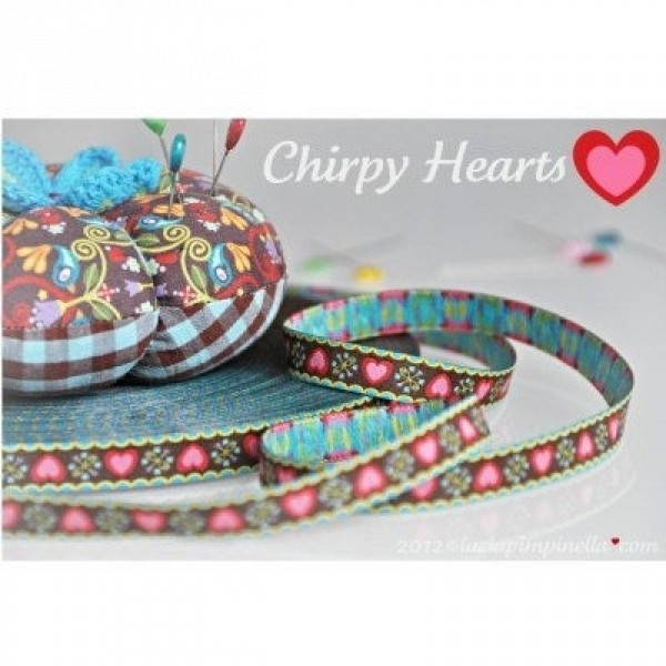 1m Webband Design by luzia pimpinella, 12mm breit, Chirpy Hearts