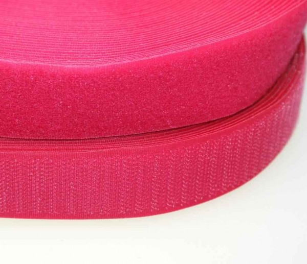 25m klettband flausch haken 16mm breit farbe pink zum aufn hen. Black Bedroom Furniture Sets. Home Design Ideas