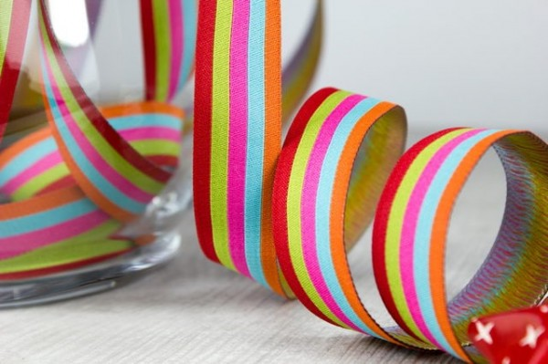 5m Rolle Webband Design by Farbenmix, 20mm breit, stripes sweets