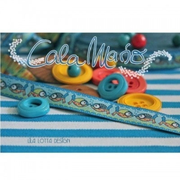 1m Webband Design by Lila-Lotta - 15mm breit - Cala Mario