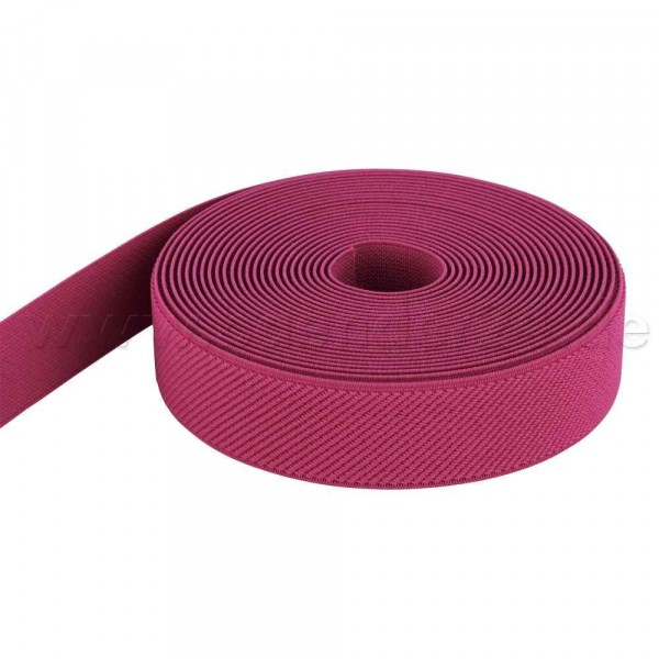 5m Rolle Gummiband - Farbe: pink - 25mm breit