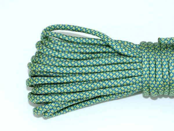 Paracord 550 Typ III - snake blue/yellow 367 - 10 Meter