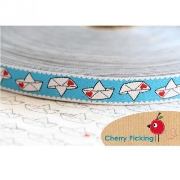 3m Rolle Webband Design by Cherry Picking, 15mm breit, Love Boat