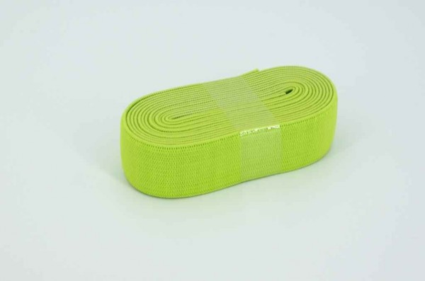 Gummiband - 20mm breit - Farbe: limone - 2m Rolle