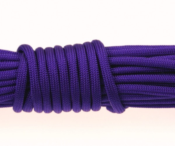 Paracord 550 Typ III Made in USA - Dunkellila - 10 Meter