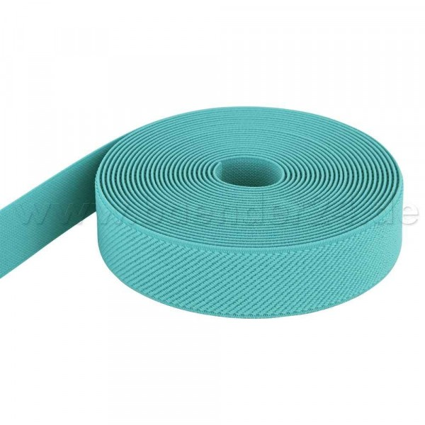 50m Rolle Gummiband - Farbe: mint - 25mm breit
