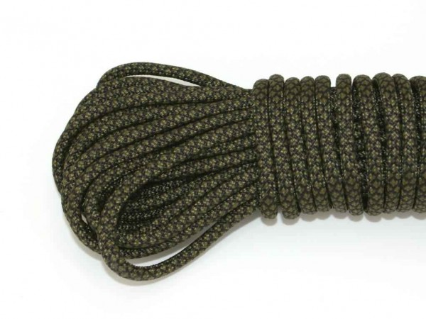Paracord 550 Typ III - army green snake 335 - 10 Meter