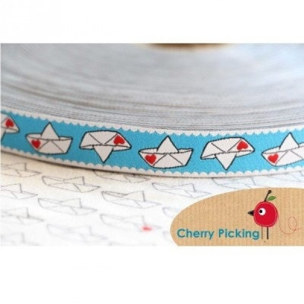 1m Webband Design by Cherry Picking, 15mm breit, Love Boat