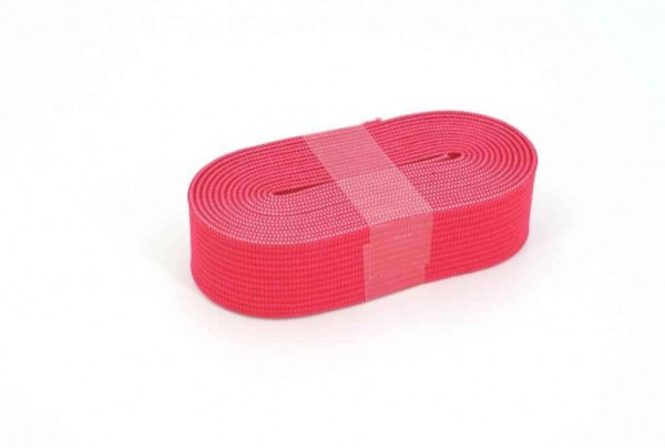 Gummiband - 20mm breit - Farbe: pink - 2m Rolle