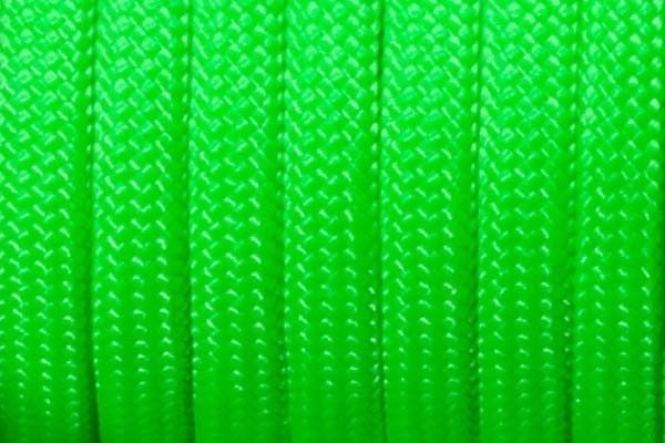 Paracord 550 Typ III Made in USA - Ultra Neongrün - 15 Meter