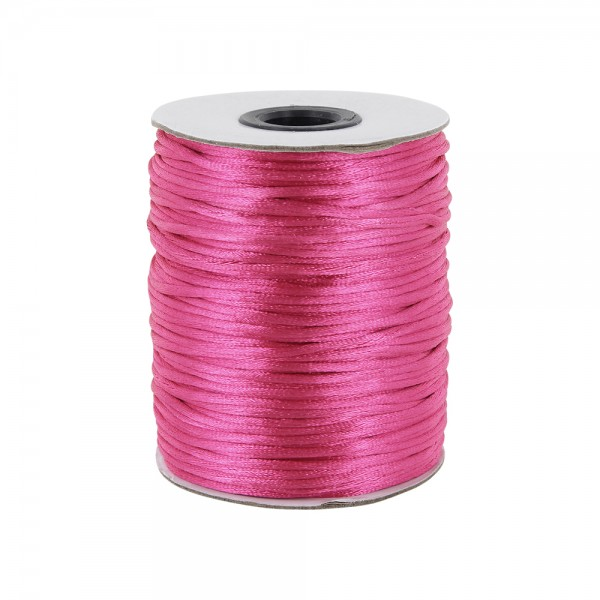100m Rolle Satinkordel - 2mm stark - Farbe: pink
