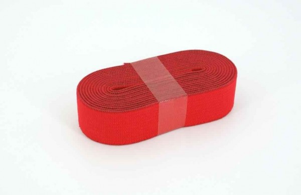 Gummiband - 20mm breit - Farbe: rot - 2m Rolle