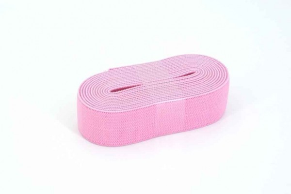 Gummiband - 20mm breit - Farbe: rosa - 2m Rolle